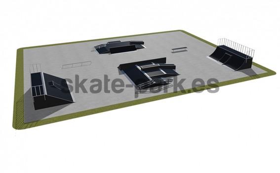 Modular skatepark 540115