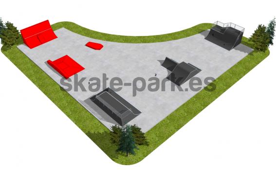 Skatepark modułowy OF2003080R1